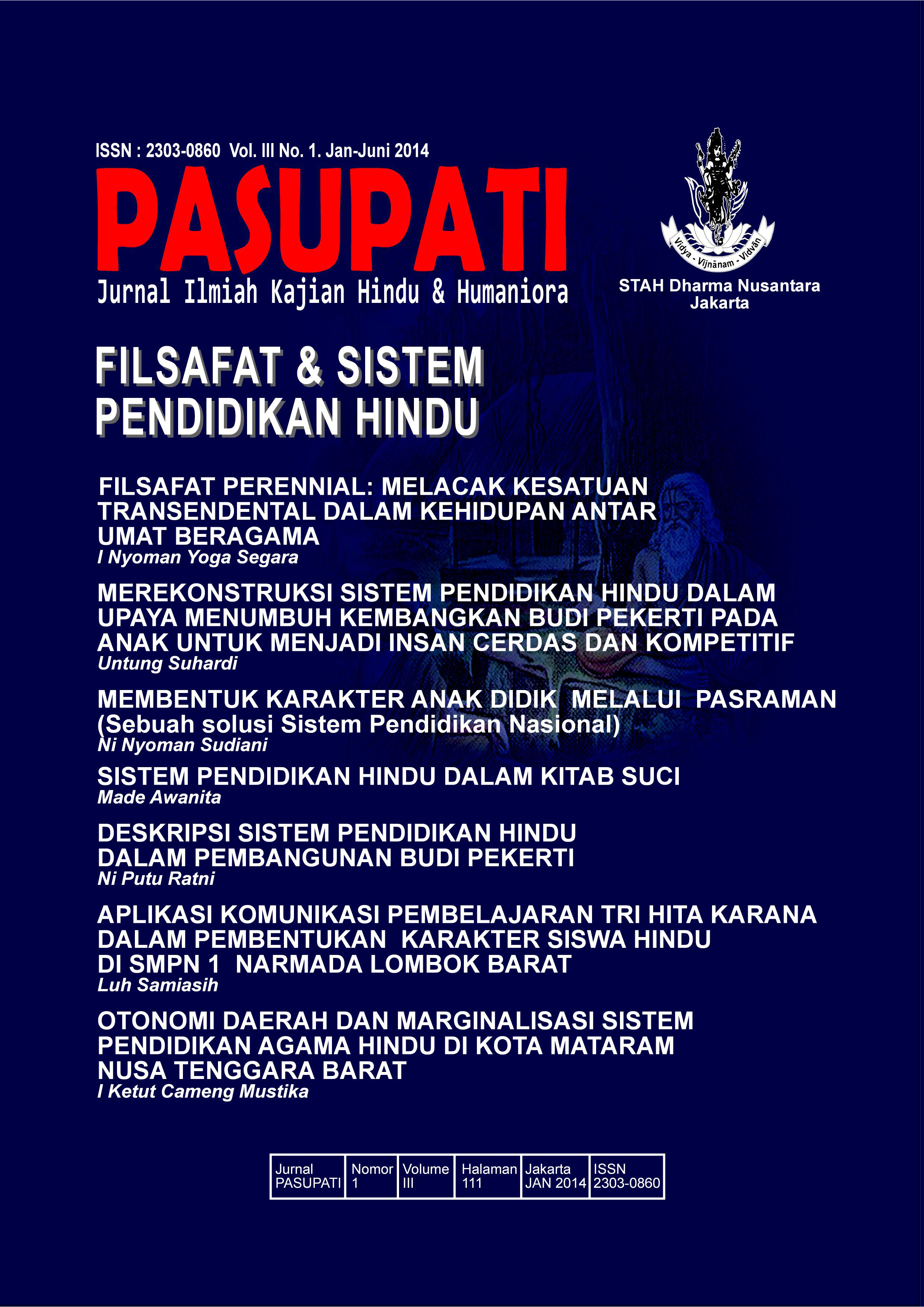Jurnal Pasupati Vol 3 No. 1